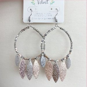Silver and Gold plated Teadrop earrings